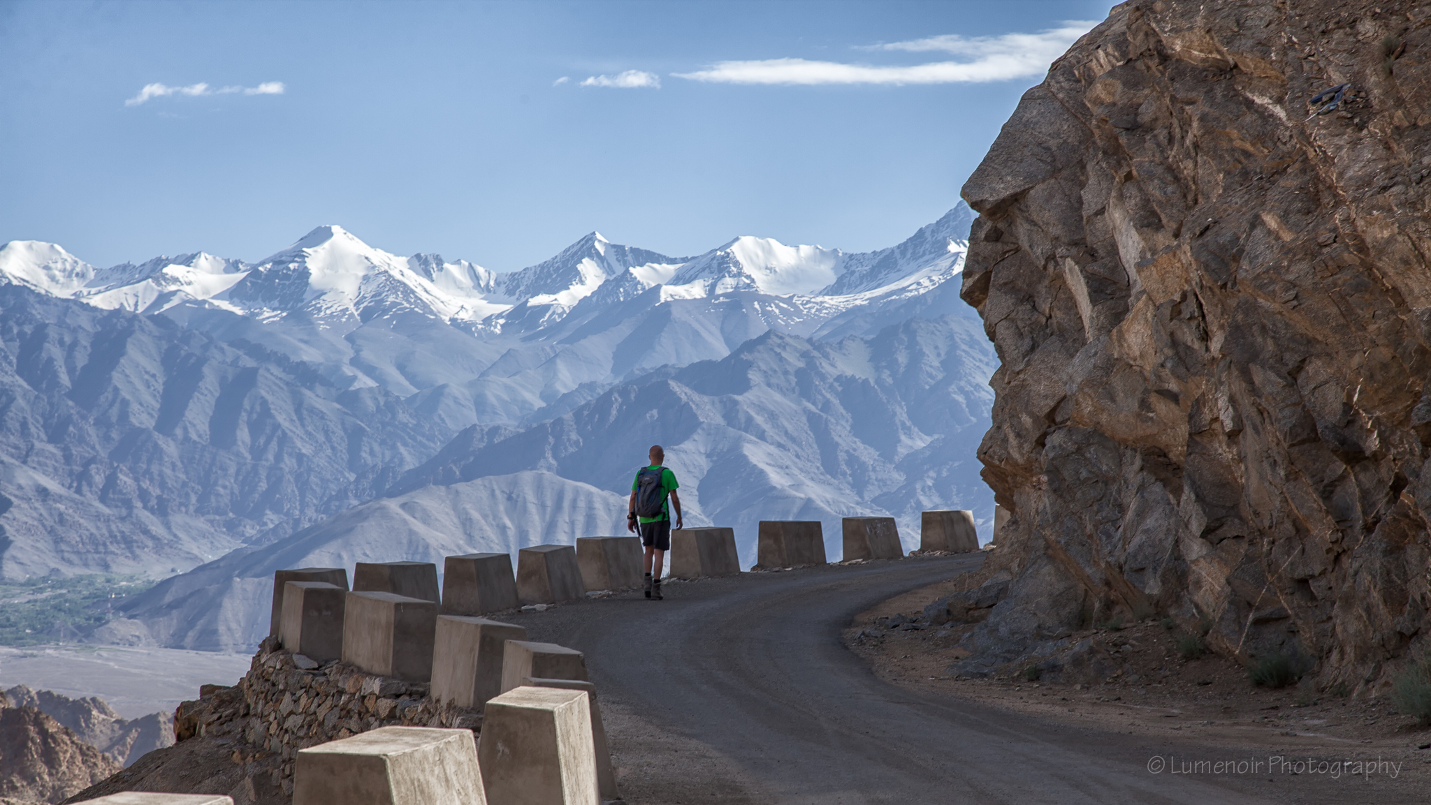 Road behind Namgyal Peak in Leh.