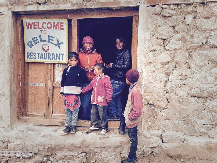 Restaurant in Chishul, near Pangong Tso